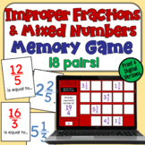 Converting Improper Fractions to Mixed Numbers: A Memory Game