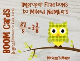 Converting Improper Fractions to Mixed Numbers Digital Boo
