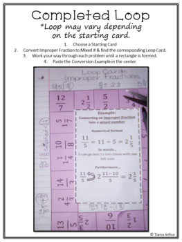 Converting Improper Fractions Loop Cards