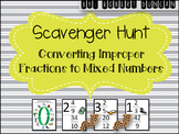 Converting Improper Fractions to Mixed Numbers - Scavenger Hunt