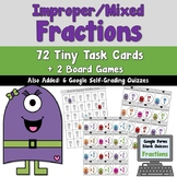 Converting Improper and Mixed Fractions Task Cards