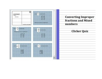 Converting Improper fractions and Mixed Numbers Activ (votes/expressions)