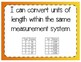 Converting Length Units Interactive Notebook Activity & Quick Check TEKS 4.8B
