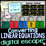 Converting Linear Equations Digital Math Escape Room