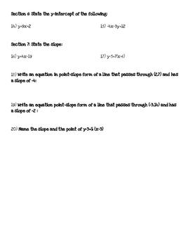 Converting Linear Equations Quiz