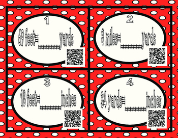 Converting Measurement- Metric and Customary Length QR and Non QR Task Cards