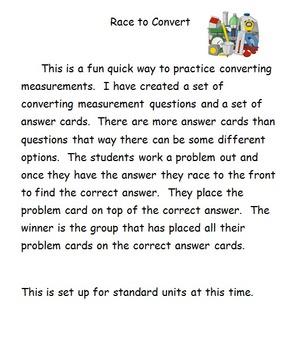 Converting Measurement Race