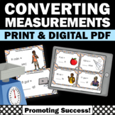 Customary Units of Measurement Conversions Task Cards 4th 5th Grade Math Digital