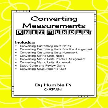 Converting Measurements Bundle-6.RP.3d