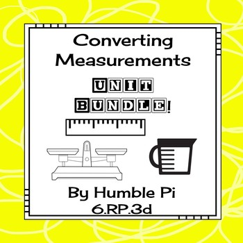 Converting Measurements Bundle-6.RP.3d