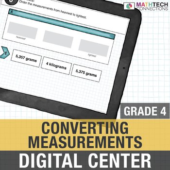 Converting Measurements - Customary and Metric 4th Grade Digital Math Center
