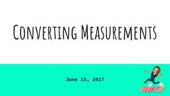Converting Measurements- Digital Interactive Notebook