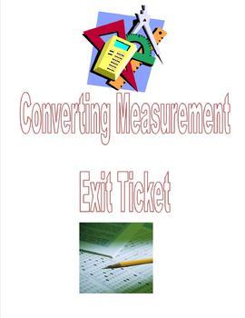 Converting Measurements Exit Ticket