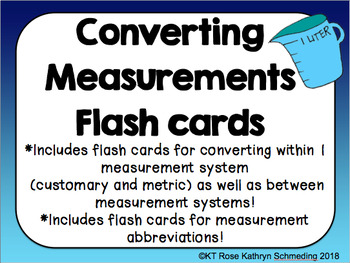 Converting Measurements Flash Cards