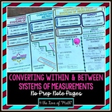 Converting Measurements No Prep Note Pages
