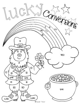 Converting Measurements - St. Patty's Coloring Activity