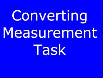 Converting Measurements Task