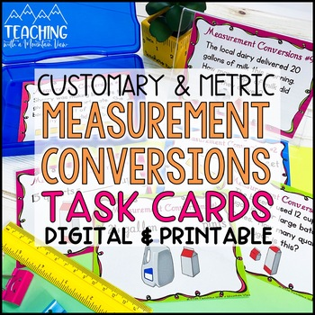 Converting Measurements Task Cards By Teaching With A Mountain View