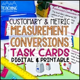 Converting Measurements Task Cards { Customary & Metric Co
