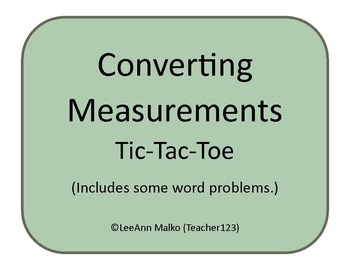 Converting Measurements Tic-Tac-Toe