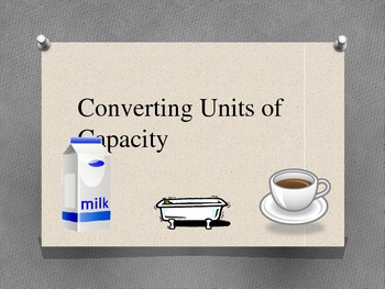 Converting Measurements of Capacity PowerPoint
