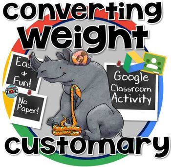 Converting Measurements of Weight- Ounce, Pound, Ton  GOOGLE CLASSROOM
