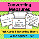 Converting Measures Task Cards