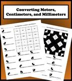 Converting Meters, Centimeters, and Millimeters Color Worksheet