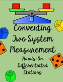 Converting Metric/Customary Measurements (Differentiated Math Stations, Centers)