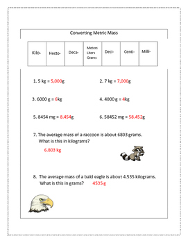 Converting Metric Mass