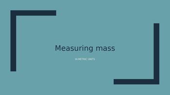 Converting Metric Mass PPT