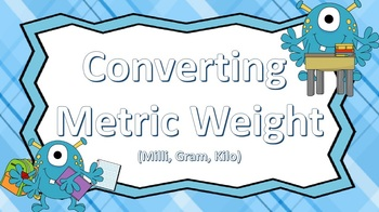 Converting Metric Measurement Pack (weight, capacity, and length)