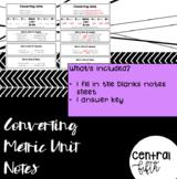 Converting Metric Units Notes