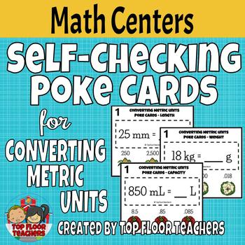 Converting Metric Units Poke Cards