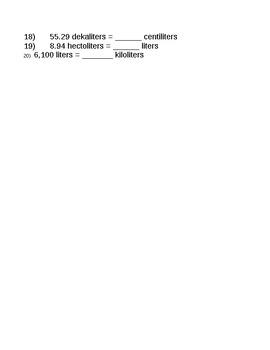 Converting Metric Units - QR Codes