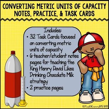 Converting Metric Units of Capacity Pack