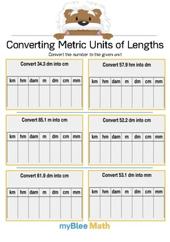 Converting Metric Units of Length 4 - Convert the number - Gr 5
