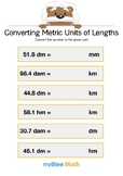 Converting Metric Units of Length 6 - Convert the number - Gr 5