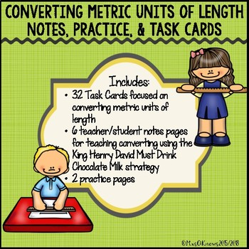 Converting Metric Units of Length Pack