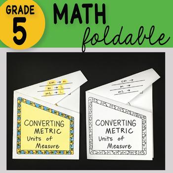 Doodle Notes - Converting Metric Units of Measure Math Notebook Foldable