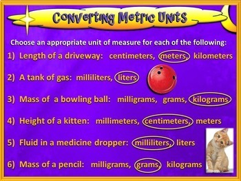 Converting Metric Units of Measure - 5th Grade CCSS (PowerPoint Only)
