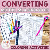 Converting Metric Units of Measurement Coloring Activities