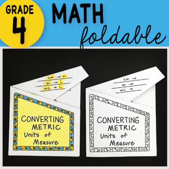 Math Doodle - Converting Metric Units of Measurement ~ INB Foldable Notes ~