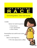Converting Metric Units of Measurement Review: Amazing Race Theme
