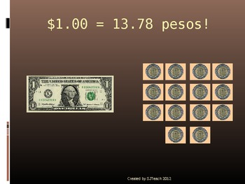 Converting Mexican Pesos to American Dollars
