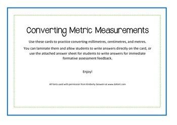 Converting Millimeters, Centimeters, and Meters