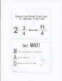 Converting Mixed Fractions to Improper Fractions (MAD Strategy)