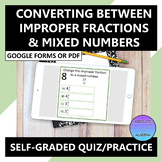Converting Mixed Numbers & Improper Fractions Google Form