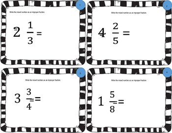 Converting Mixed Numbers and Improper Fractions