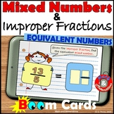 Converting Mixed Numbers and Improper Fractions Boom Cards
